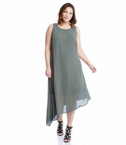 Karen Kane Plus Size Sheer Dress American Made