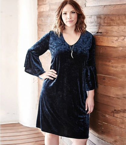 Karen Kane Plus Size Black Dress American Made