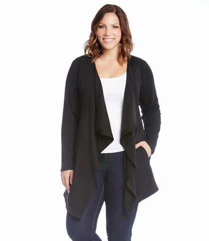 Karen Kane Plus Size Black Cardigan American Made