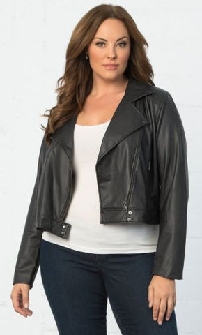 Kyonna Plus Size Leather Bomber American Made