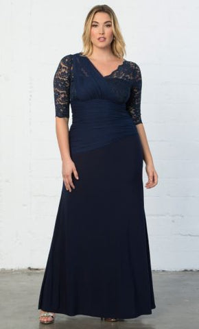 Kyonna Plus Size Dress in Navy American Made