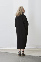 Rachel Comey Winter Coat in Black, Back, Made in America