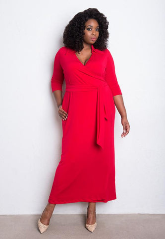 IGIGI Plus Size Red Dress American Made