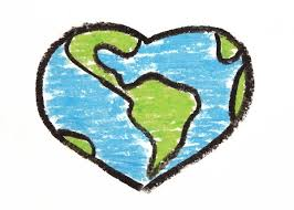 World Recycle Globe Heart