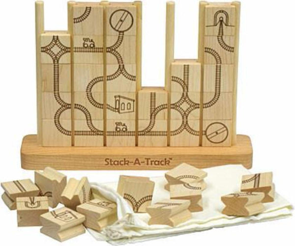 Maple Landmark Stack a Track Game made in USA