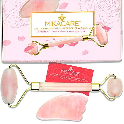 Rose Quartz Facial Face Roller