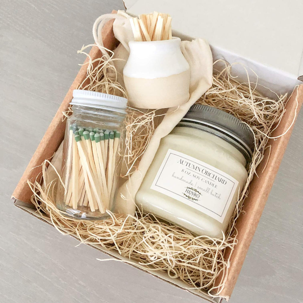 Candle & Match Striker Gift Set