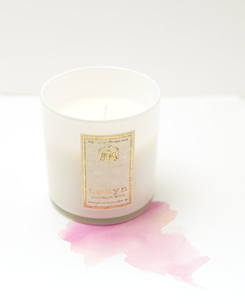 Handmade Tokyn Ginza Rose Candle, Made in Brooklyn