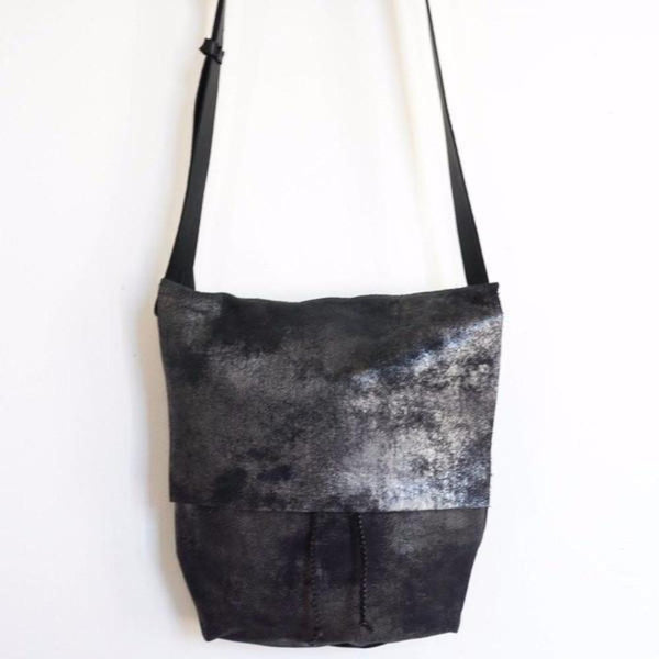 made in America purse in distressed black