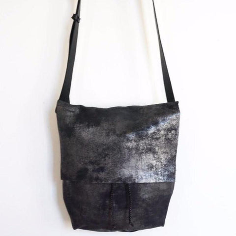 Large Bag, Distressed Black