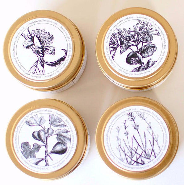 Floral Candle Set of Four