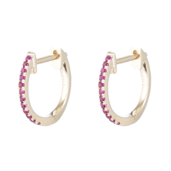 Ruby Pave Earrings by Ariel Gordon, Made in USA