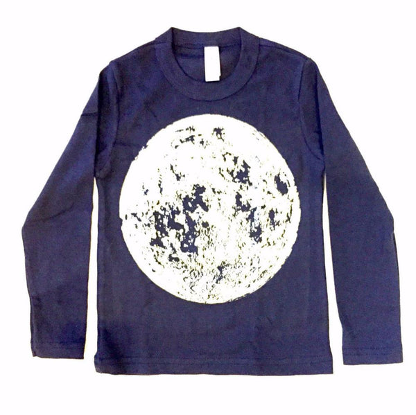 Toddler Moon Shirt made in Brooklyn