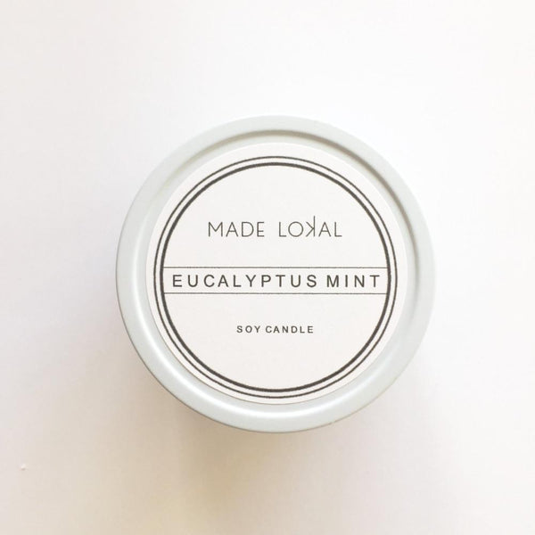 Eucalyptus Soy Candle, Made in America
