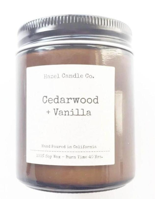 Made in USA Cedarwood Vanilla Soy Candle