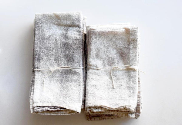 Grey Hand-Dyed Napkin Set