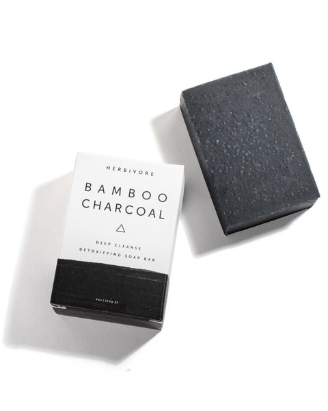 Bamboo Charcoal Soap handmade by Herbivore Botanicals