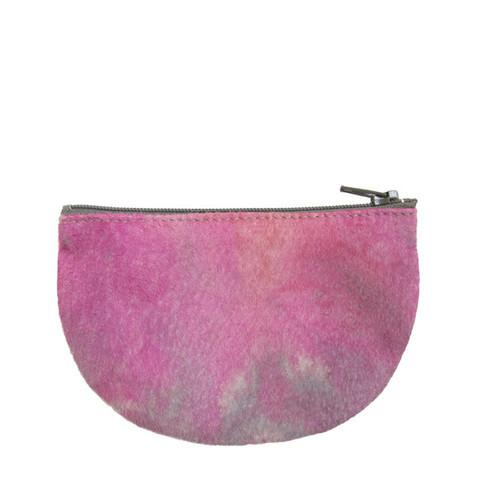 pink tie dye moon pouch made in NYC