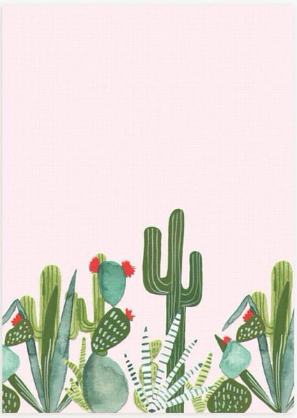 Pink Cactus Notebook, Made in America