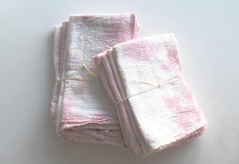 Rose Hand-Dyed Napkin, Set of 4