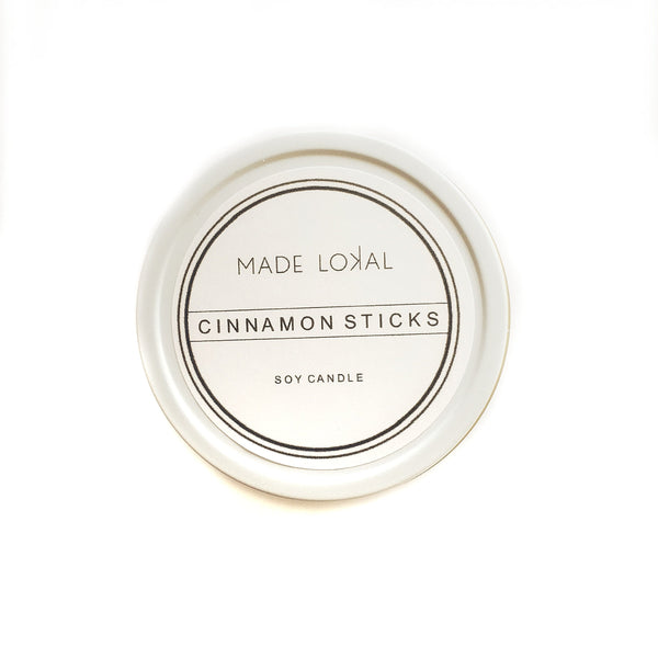 Travel Candle, Cinnamon Sticks