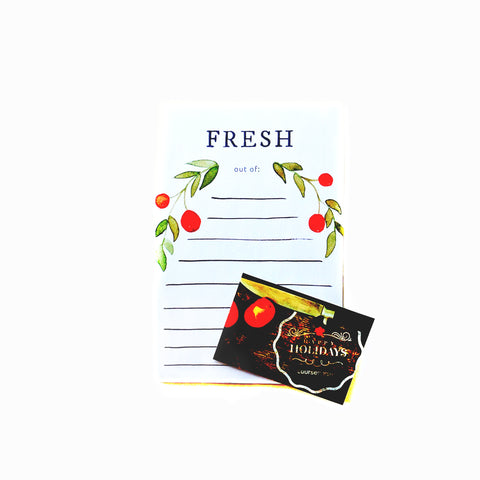 Cooking Gift Certificate + Grocery List Note Pad