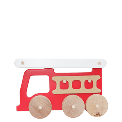 Manny and Simon Firetruck in Red, Made in USA