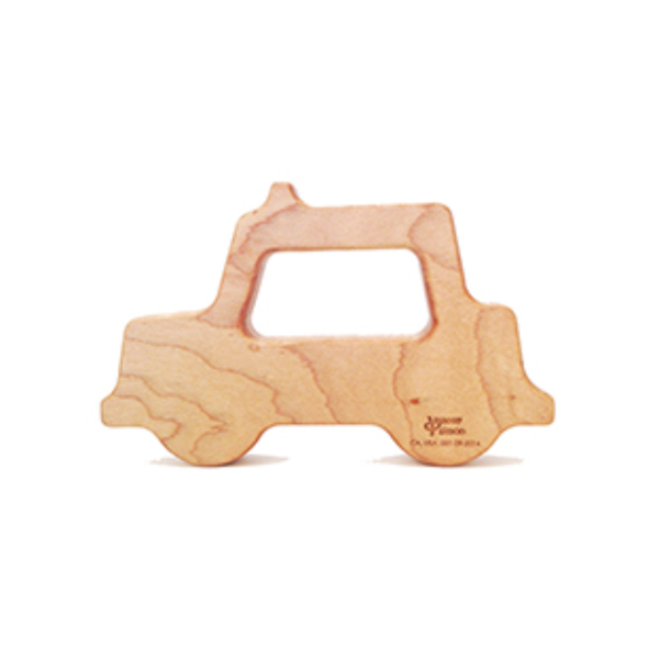 Wooden Taxi Teether made in USA
