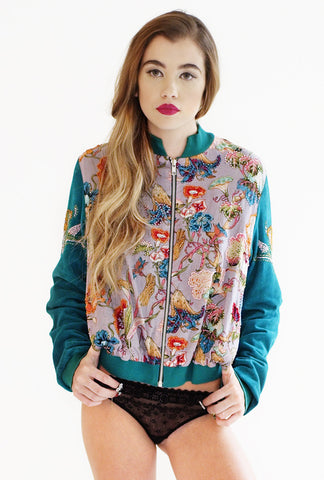 TARI Beaded Bomber Jacket
