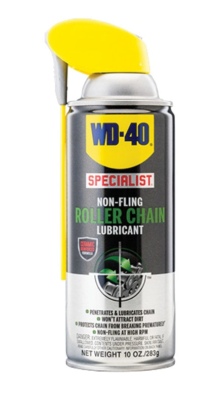 WD-40 Specialist Roller Chain Lubricant Spray #300493, 10 oz - AutoCareParts.com