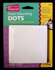 "Super Glue Foam Mounting Dots Double Sided 1/4"" Diameter 363 Dots Per Package"