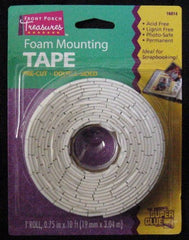 Super Glue Foam Mounting Tape Double Sided 1 roll 0.75 in x 10 ft