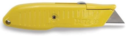 Lutz Tools #82 Retractable Blade Utility Knife - Yellow #30282 - AutoCareParts.com