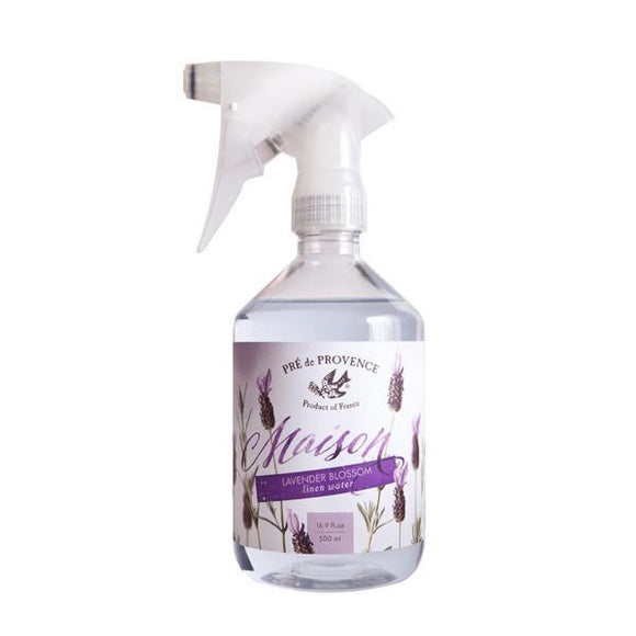 Pre de Provence Maison French Lavender Blossom Linen Water with Sprayer #35461LV, 500 ml