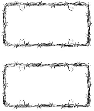Cruiser Chrome 'Barbed Wire II' License Frame #22230 - 2 Frames - AutoCareParts.com