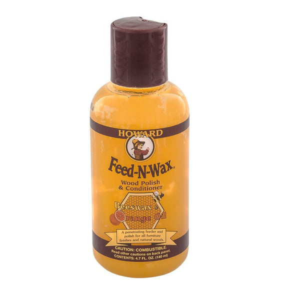Howard Feed-N-Wax Wood Polish and Conditioner #FW0004, 4.7 oz - AutoCareParts.com