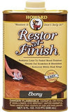 Howard Restor-A-Finish Ebony, #RF8008, 8 oz - Pack of 2 - AutoCareParts.com