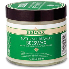 Briwax Natural Creamed Beeswax - 8 oz.