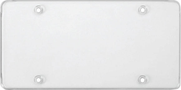 Cruiser Clear 'Tuf-Shield Flat' License Plate Cover #76100 - AutoCareParts.com
