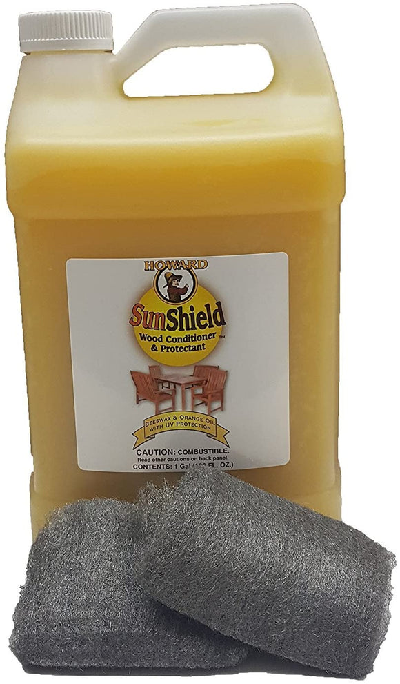 Howard SunShield Wood Conditioner #SWAX128, 1 gal - AutoCareParts.com
