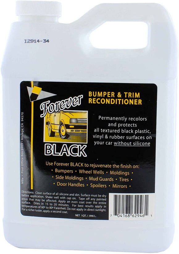 Forever Car Care Black Bumper & Trim Conditioner #FB1QT, 32 oz