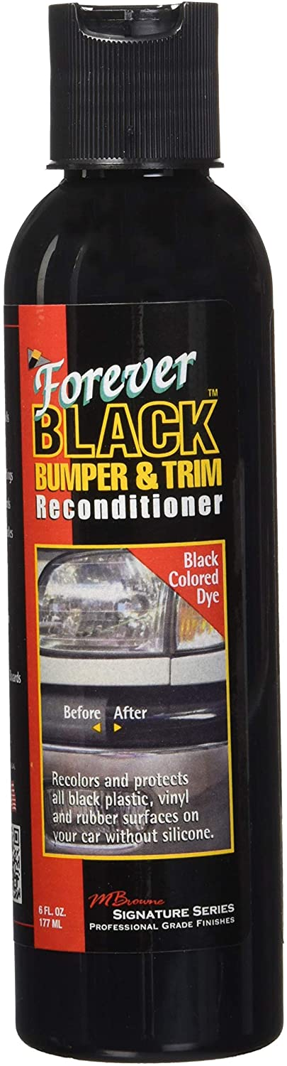 Forever Car Care Black Bumper & Trim Dye #FB060, 6 oz