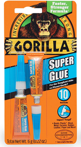 Gorilla Super Glue #7800101, Two 3 g Tubes - Pack of 2 - AutoCareParts.com