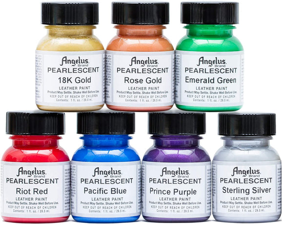 Angelus Pearlescent Acrylic Leather Paint #733-01, 1 oz - AutoCareParts.com