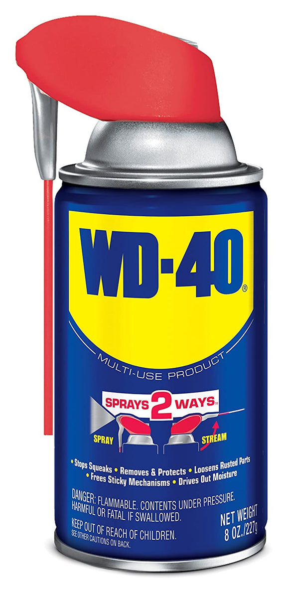 WD-40 Multi-Use Product Spray with Smart Straw #490026, 8 oz - AutoCareParts.com