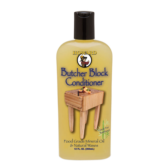 Howard Butcher Block Conditioner #BBC012, 12 oz - AutoCareParts.com