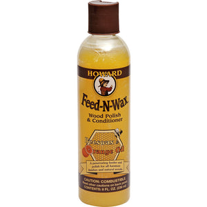 Howard Feed-N-Wax Wood Polish and Conditioner #FW0008, 8 oz - Pack of 2 - AutoCareParts.com