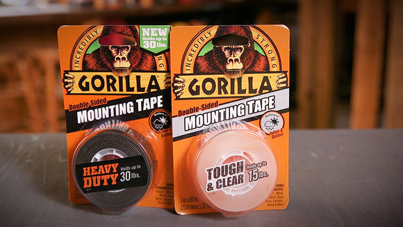 Gorilla Heavy Duty Mounting Tape #6065002 and Clear Mounting Tape #6065001 Combo Pack, 1