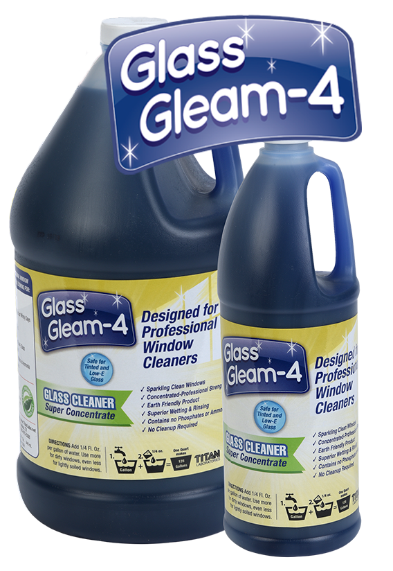 Titan Labs Glass Gleam-4 Window Cleaning Concentrate