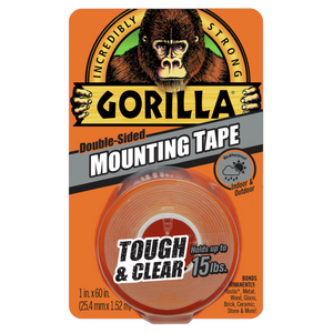 "Gorilla Tough & Clear Mounting Tape #6065001, 1"" x 60"" - AutoCareParts.com"